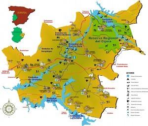 mapa de la siberia extremeña